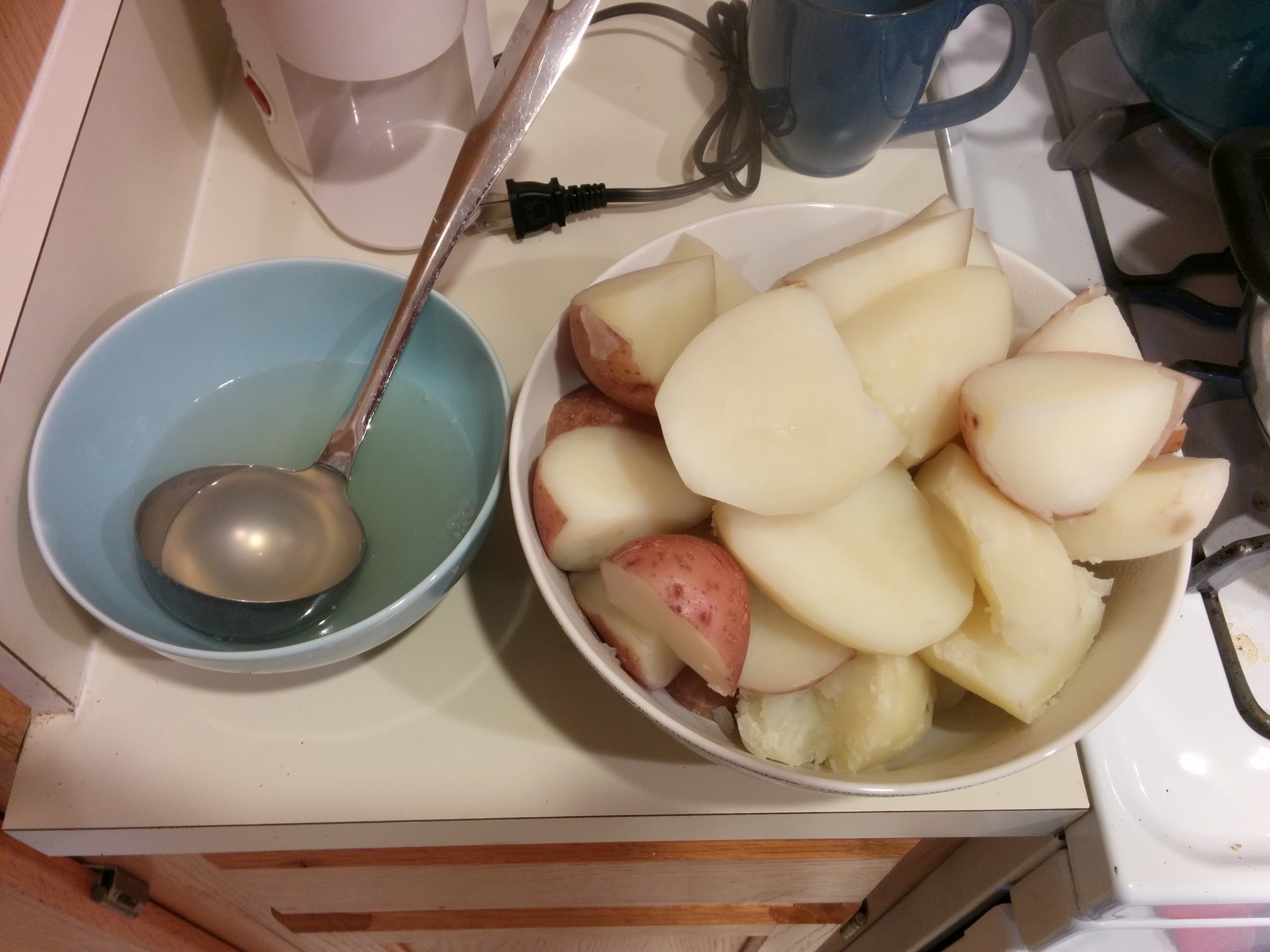 Drained Potatoes